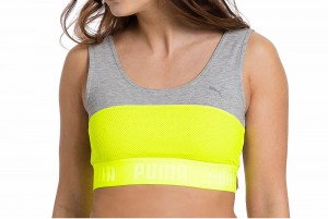 Top TRANSITION Crop Top W Safety Yellow