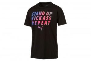 Koszulka Slogan Tee Cotton Black