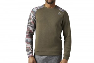BLUZA Z DL. REKAWEM QUIK COTTON CREW NECK