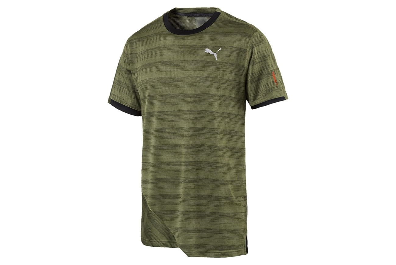 Koszulka PACE Breeze S S Tee Olivine Heather-Puma