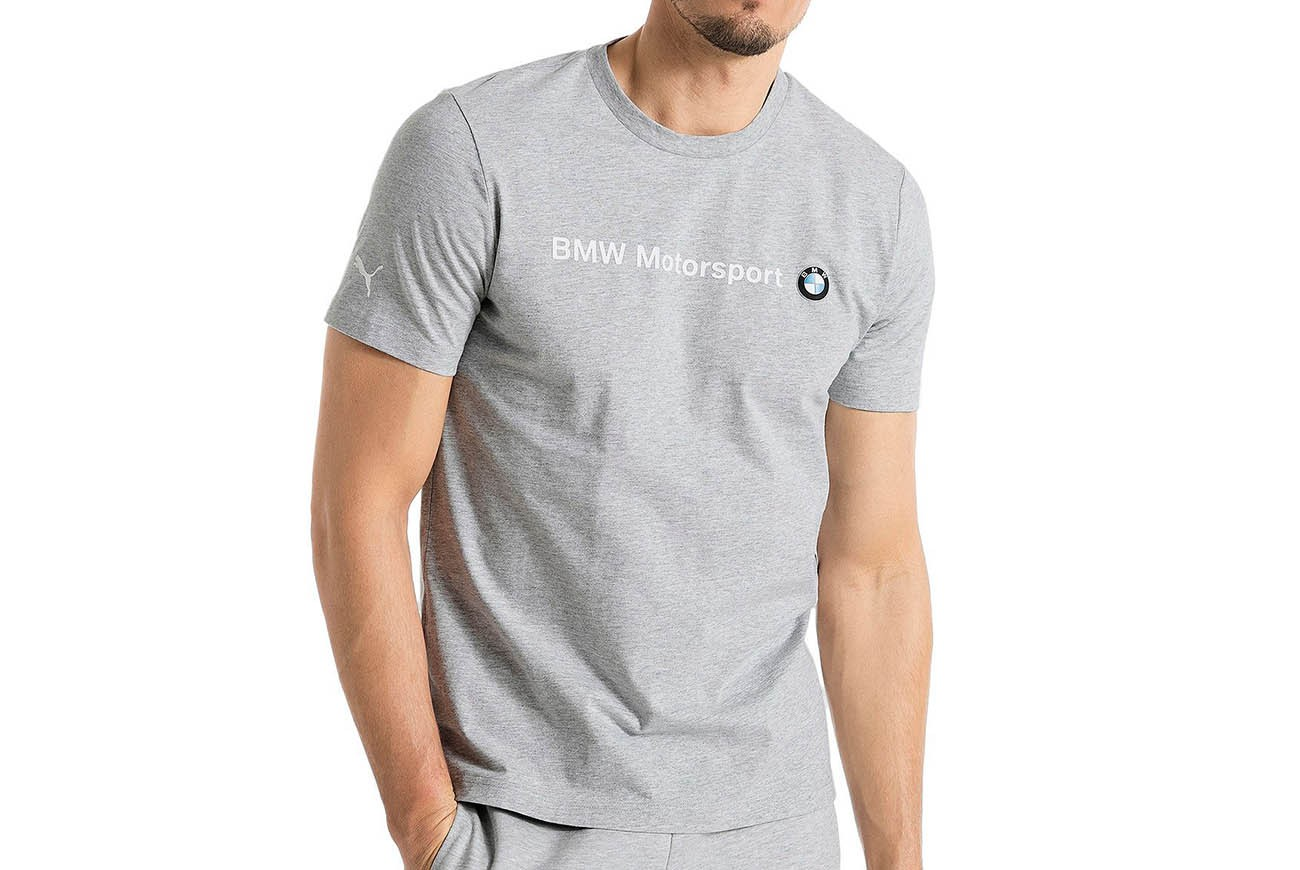 Koszulka BMW MSP Logo Tee Light Gray Hea