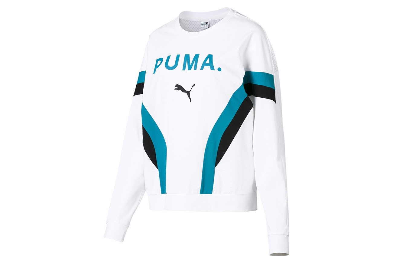 Bluzka Chase Long Sleeve Top Puma White