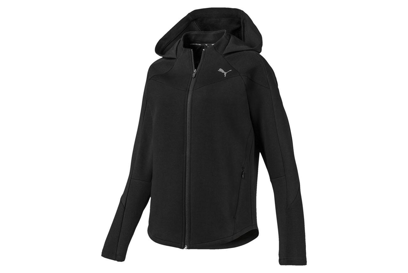Bluza EVOSTRIPE FZ Hoody Puma Black