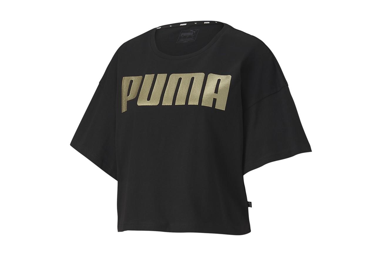Koszulka Rebel Fashion Tee Puma Black-Gold
