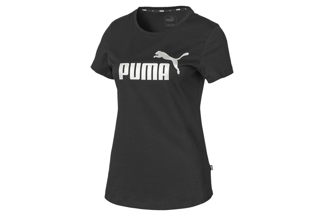 Koszulka ESS+ Metallic Tee Puma Black-Si