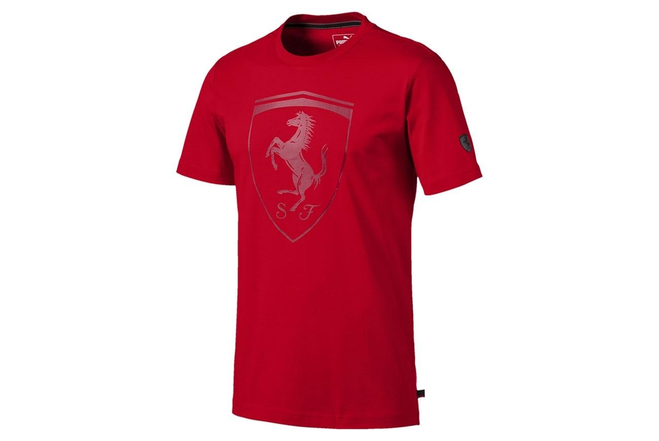 koszulka Ferrari Big Shield Tee Rosso Co