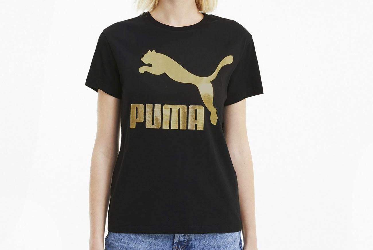 koszulka Classics Logo Tee Puma Black-go