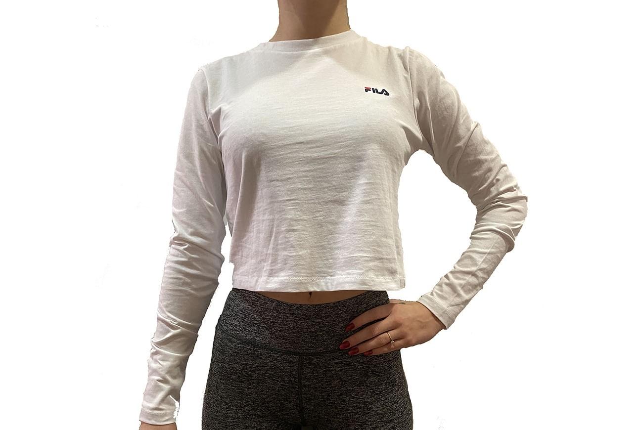BLUZKA WOMEN EAVEN cropped long sleeve shirt