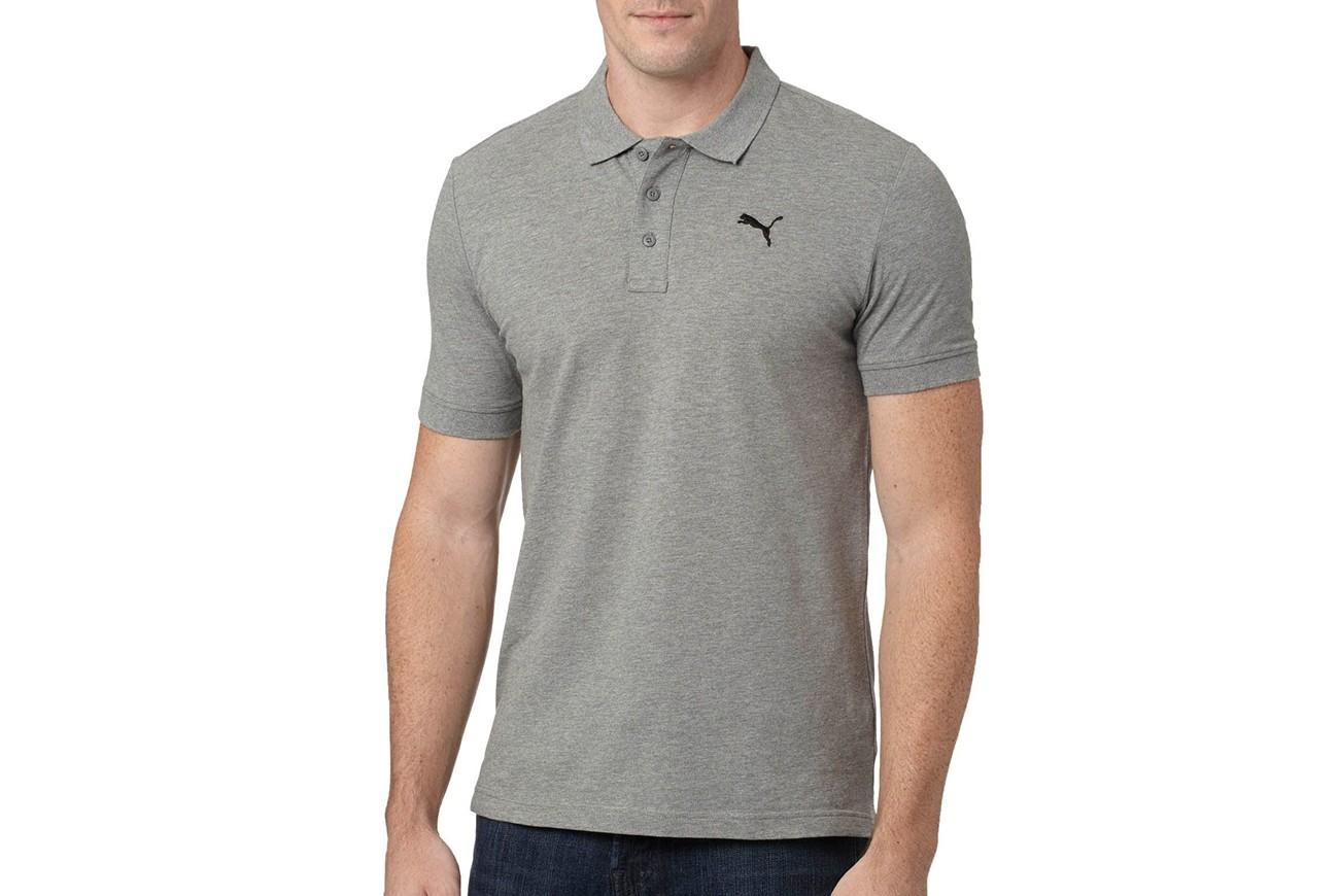 Koszulka Polo ESS Pique Polo Medium Gray Heather