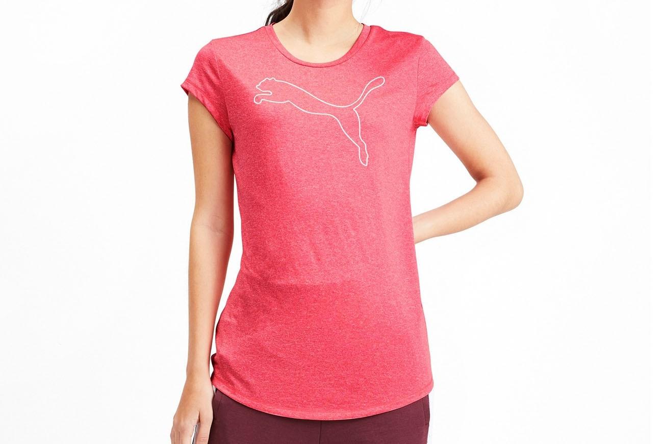 Koszulka Active Logo Heather Tee Calypso