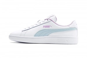 Buty Puma Smash v2 L Jr Puma White-Fair Aqua-