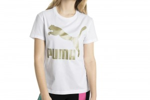 Koszulka Classics Logo Tee Puma White--Gold