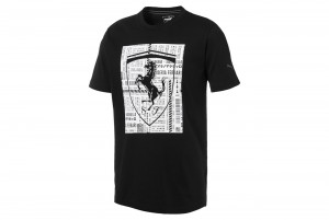 Koszulka Ferrari Big Shield Tee Puma Black