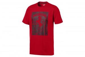 Koszulka Ferrari Big Shield Tee Rosso Corsa