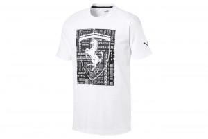 Koszulka Ferrari Big Shield Tee Puma White