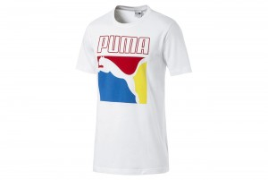 Koszulka Graphic Box Logo Tee Puma White