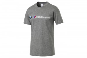 Koszulka BMW MMS Logo Tee Medium Gray Heather