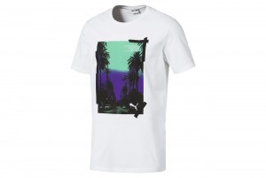koszulka Graphic Palms Photo Tee Puma White-FTW