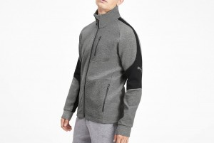 Bluza Evostripe Jacket Medium Gray Heather
