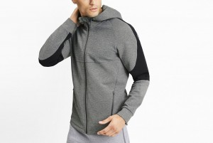 Bluza Evostripe FZ Hoody Medium Gray Heather