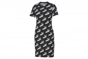 Sukienka Amplified AOP Fitted Dress Puma Black