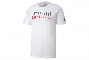Koszulka ATHLETICS Tee Big Logo Puma White-High R