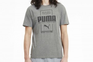 koszulka Box PUMA Tee Medium Gray Heathe