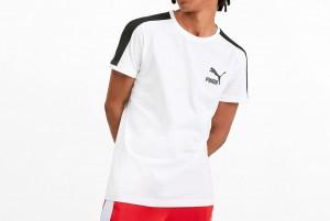 Koszulka Iconic T7 Tee Slim Fit Puma Whi