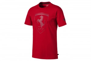 koszulka Ferrari Big Shield Tee Rosso Co