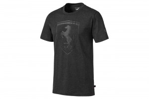 Koszulka Ferrari Big Shield Tee Dark Gra