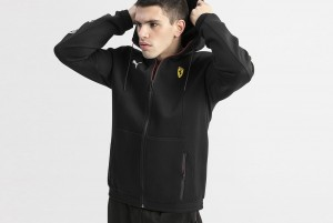 Bluza Ferrari SF Hooded Sweat Jacket Puma Black