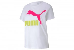 Koszulka Classics Logo Tee Puma White-RI