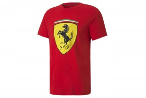 koszulka Ferrari Race Big ShieldTee+ Ros