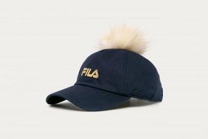 Czapka KIDS CAP jersey with faux fur pompom
