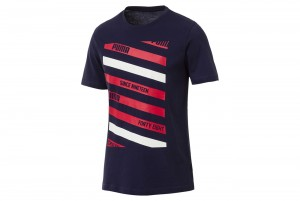 Koszulka Lines Graphic Peacoat