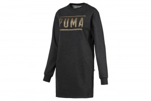 Sukienka ATHLETIC Dress FL Dark Gray Heather-Bron