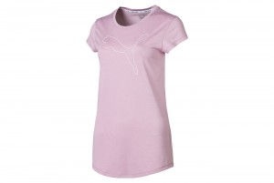 Koszulka Active Logo Heather Tee Pale Pink Heathe