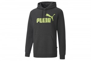 bluza ESS+ Hoody FL Puma Black-Sharp Gre