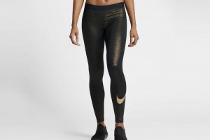 Spodnie NIKE PRO COOL TIGHT GOLD