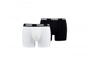 Bokserki PUMA BASIC BOXER 2P white black