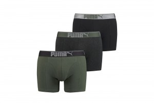 Bokserki PUMA LIFESTYLE SUEDED COTTON BOXER 3P