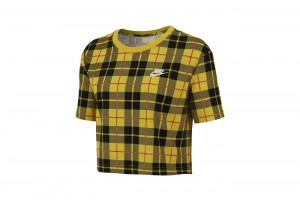 Koszulka W NSW TEE FUTURA PLAID CROP