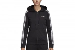 BLUZA ESSENTIALS 3-STRIPES FULL ZIP HOODIE