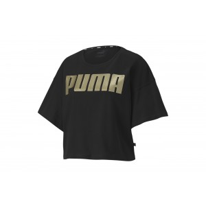 Koszulka Rebel Fashion Tee Puma Black-Gold