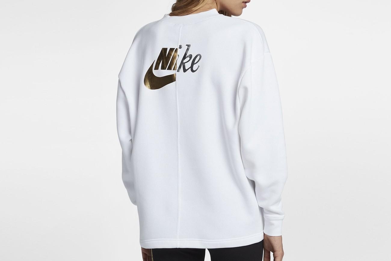 Nike Bluzka W NSW RALLY CREW METALLIC AJ0092 100 Ceny i opinie Ceneo.pl